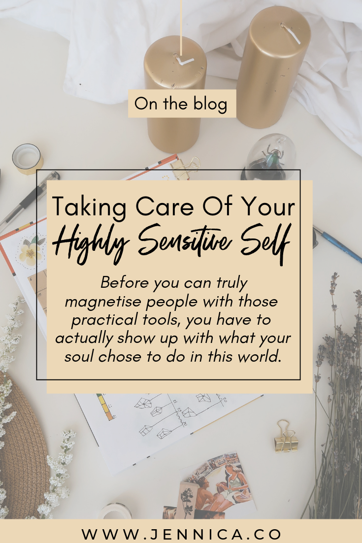 taking care of your highly sensitive self by jennica.co mindset strategist
