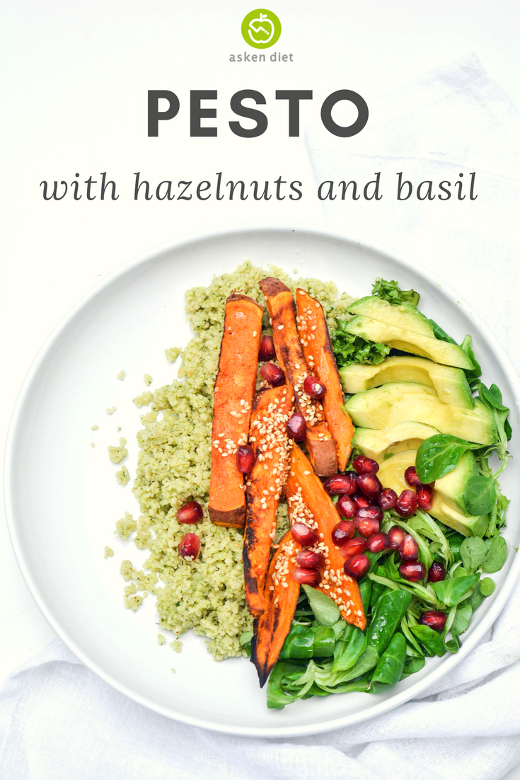 basil and hazelnut pesto
