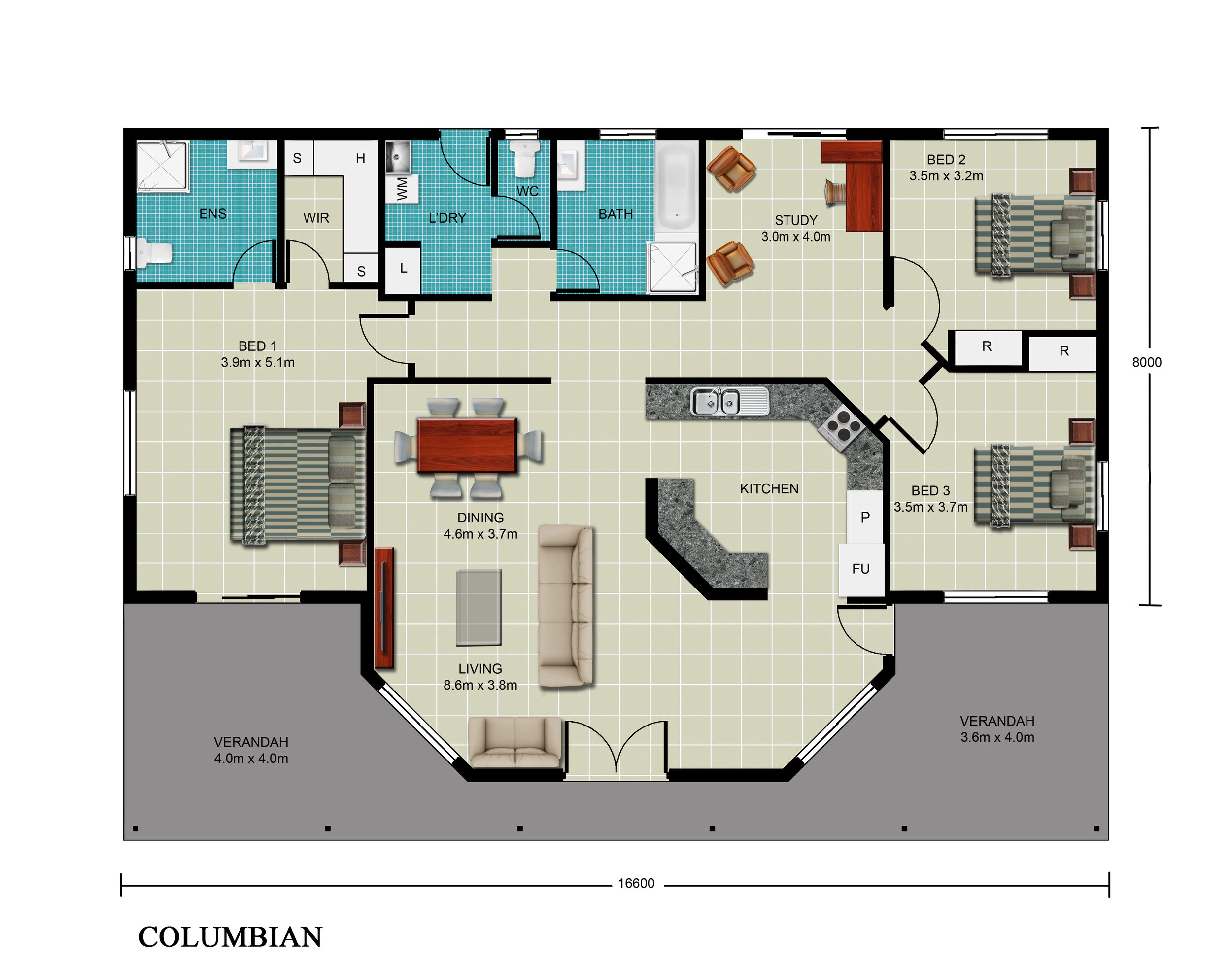 Columbian Floor Plan