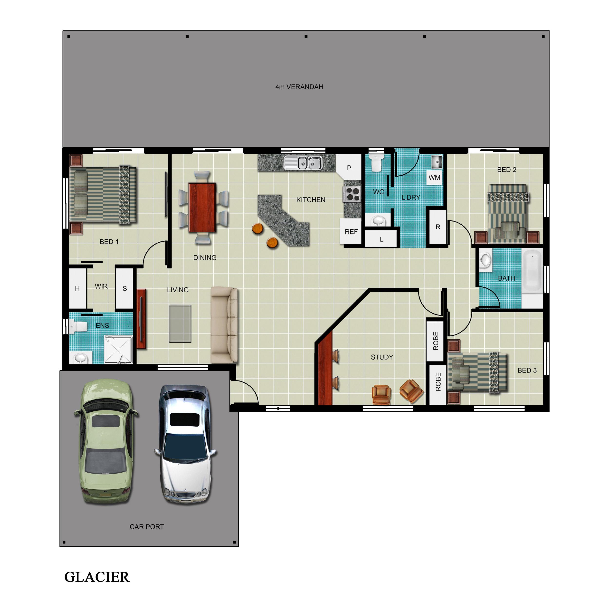 Glacier Floor Plan