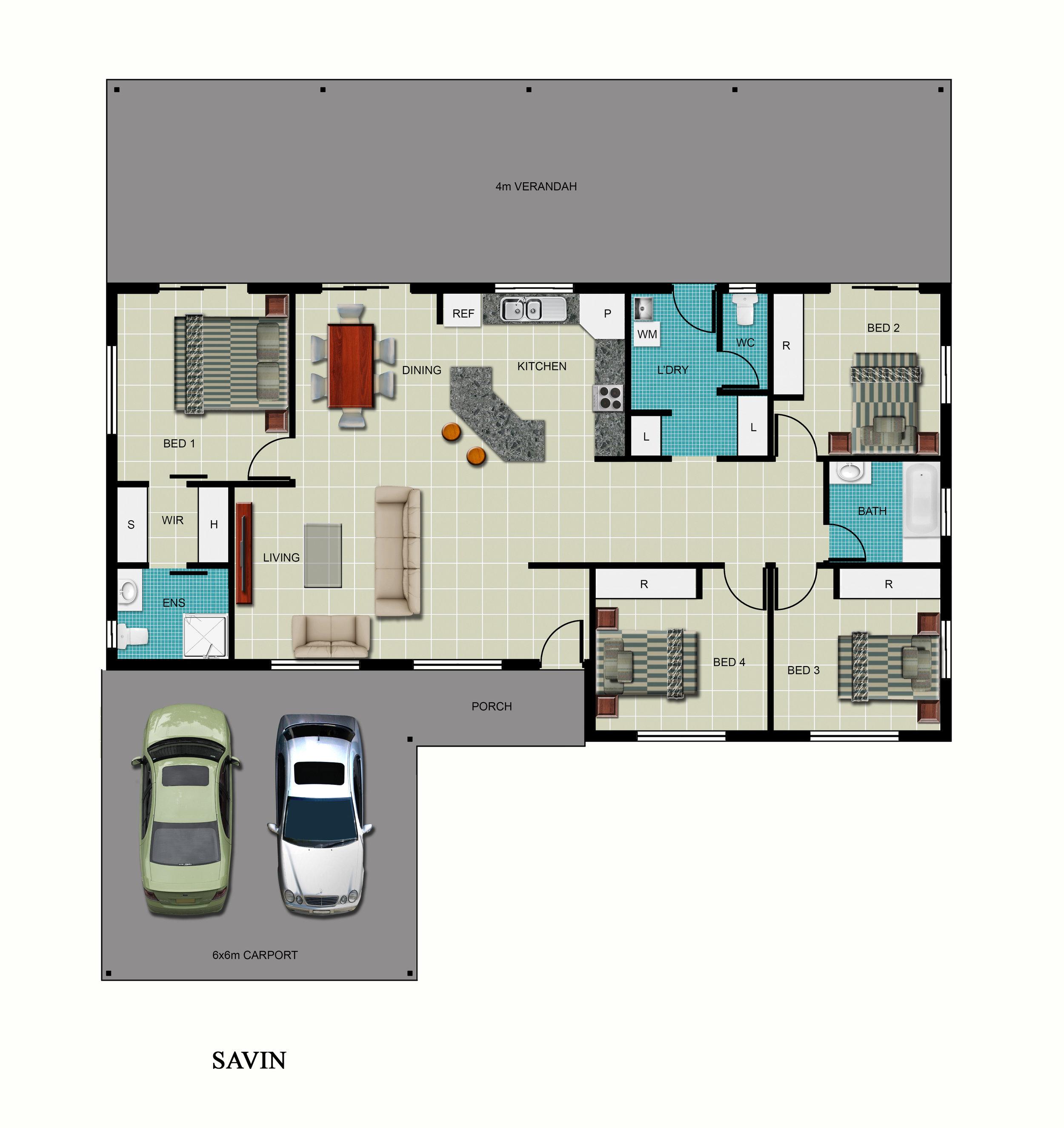Savin Floor Plan
