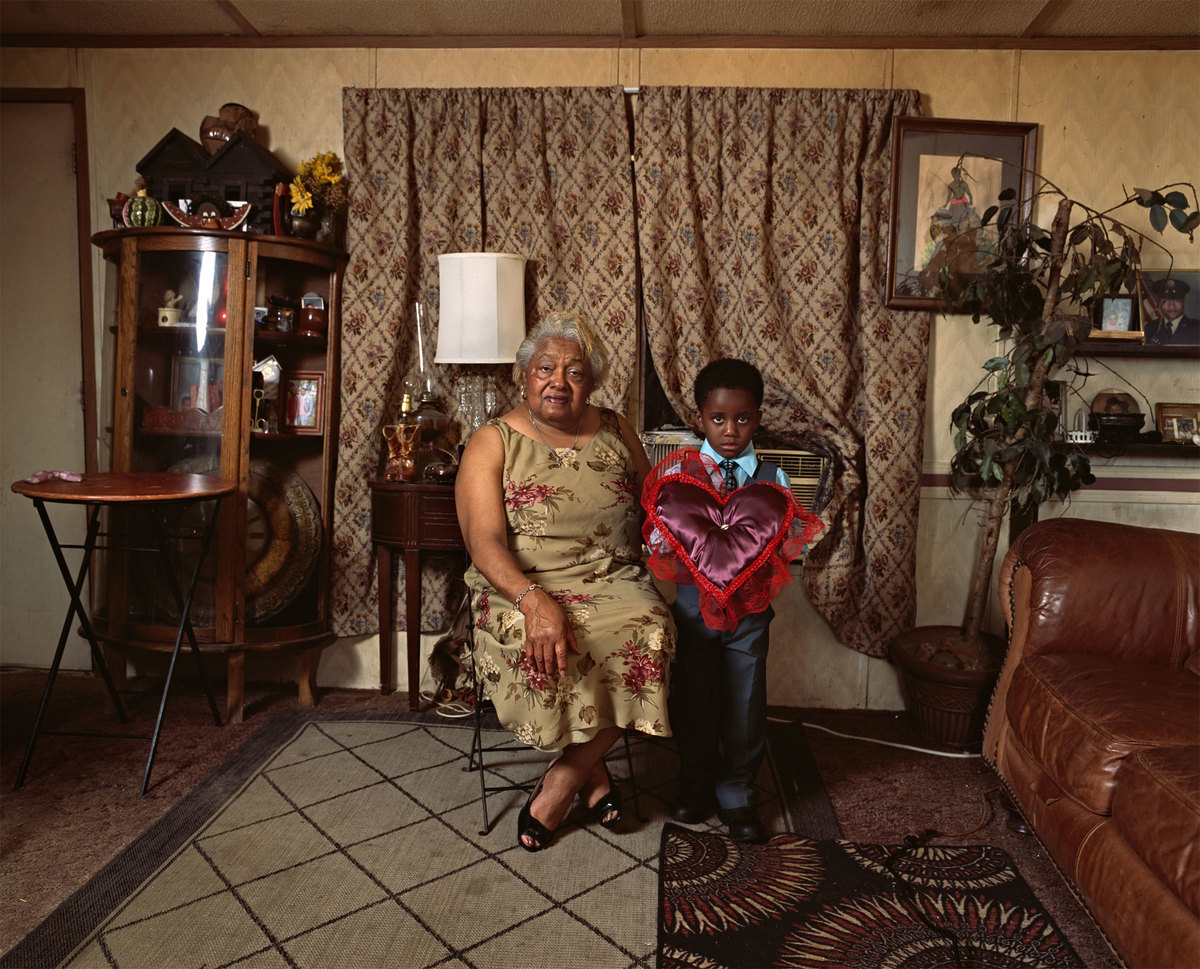 Deana Lawson (b.1979), Ring Bearer , 2016. Inkjet print, 43x54 in.(109.2 x 137.2 cm). Collection of the artist; courtesy Rhonda Hoffman Gallery, Chicago, and Sikkema Jenkins &co., New York
