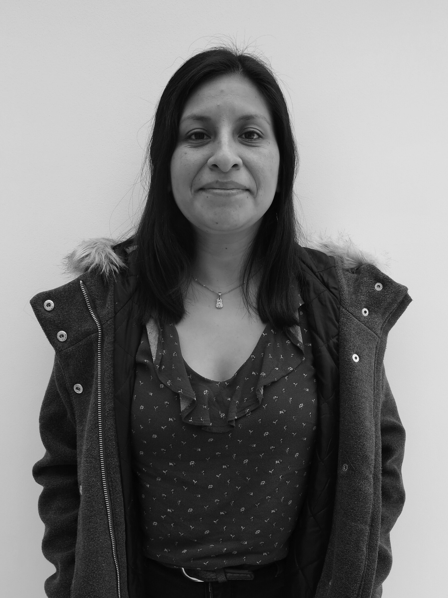Rocío // GRAPHIC DESIGNER   She is in charge of the graphic design department . She studied at Peruvian University of Applied Sciences (UPC). She loves making pop-up fairy tales, reading about astrology, and collecting packagings.
