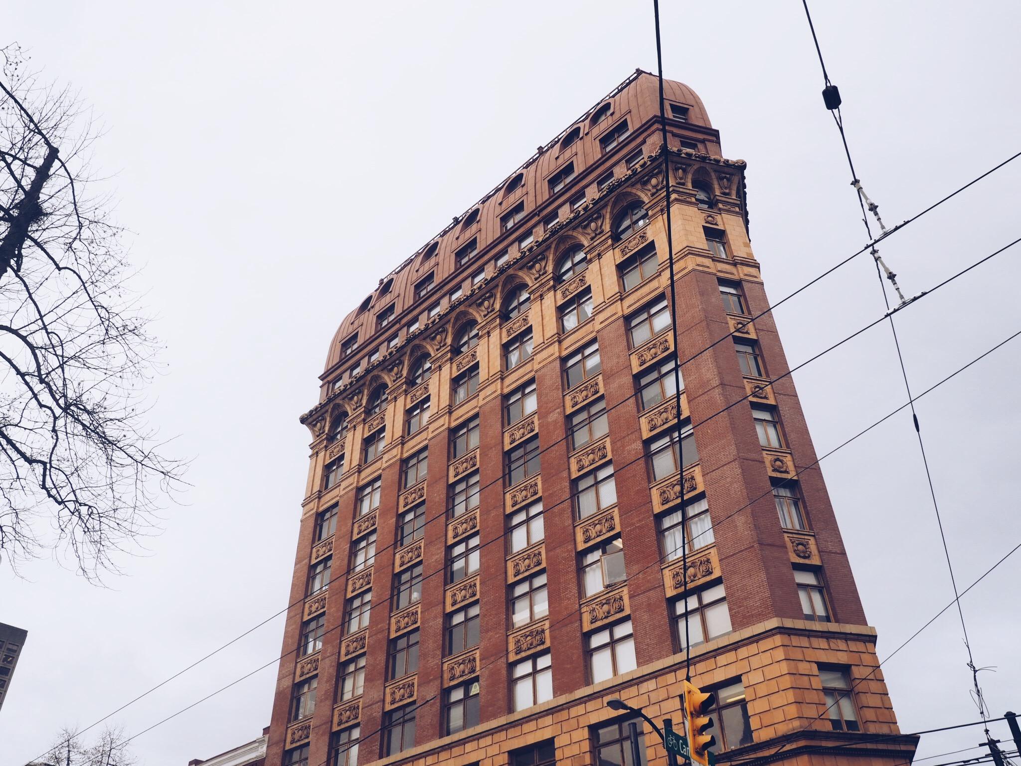 Gastown - look up buildings