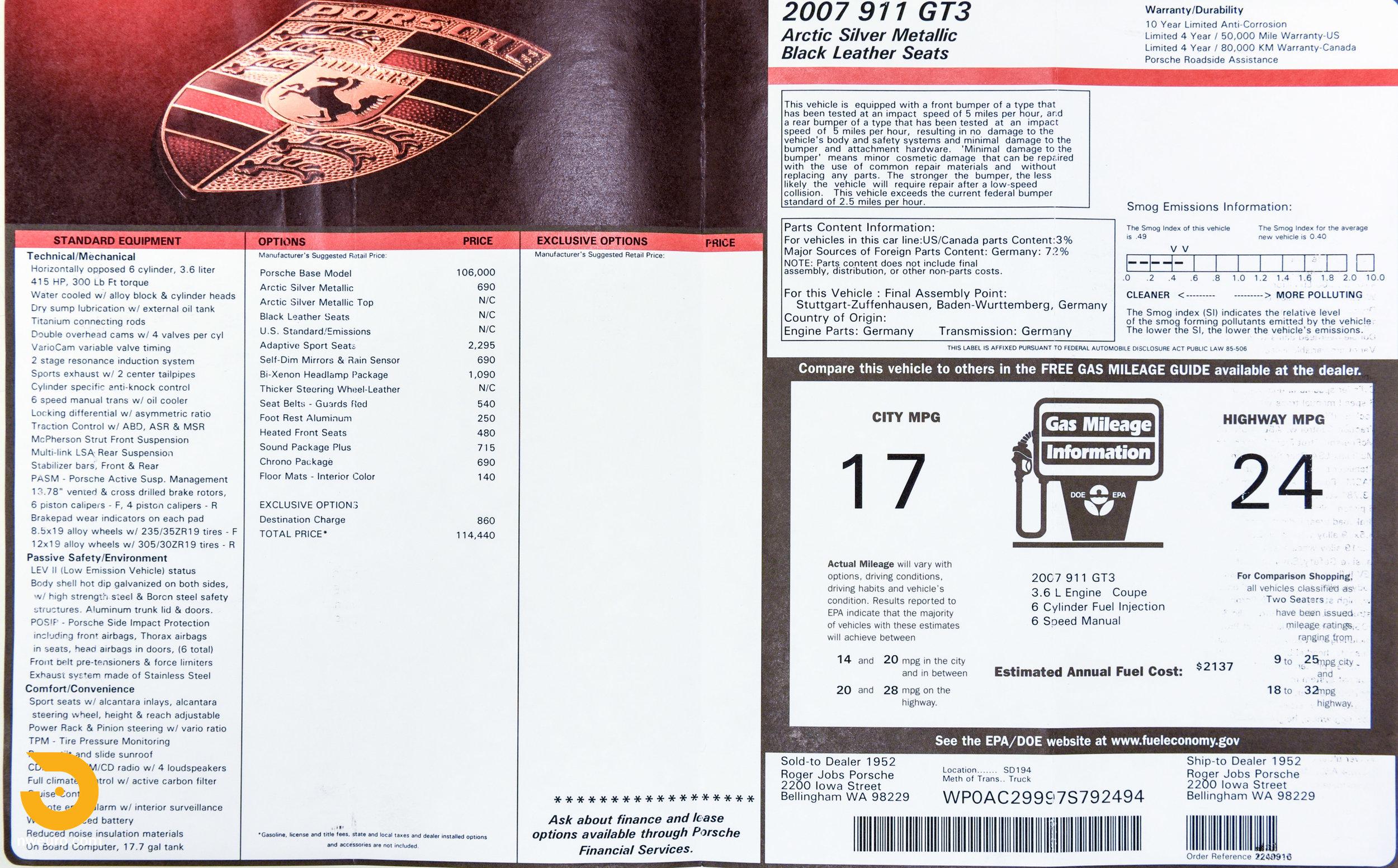 2007 Porshce GT3 Window Sticker-1.jpg