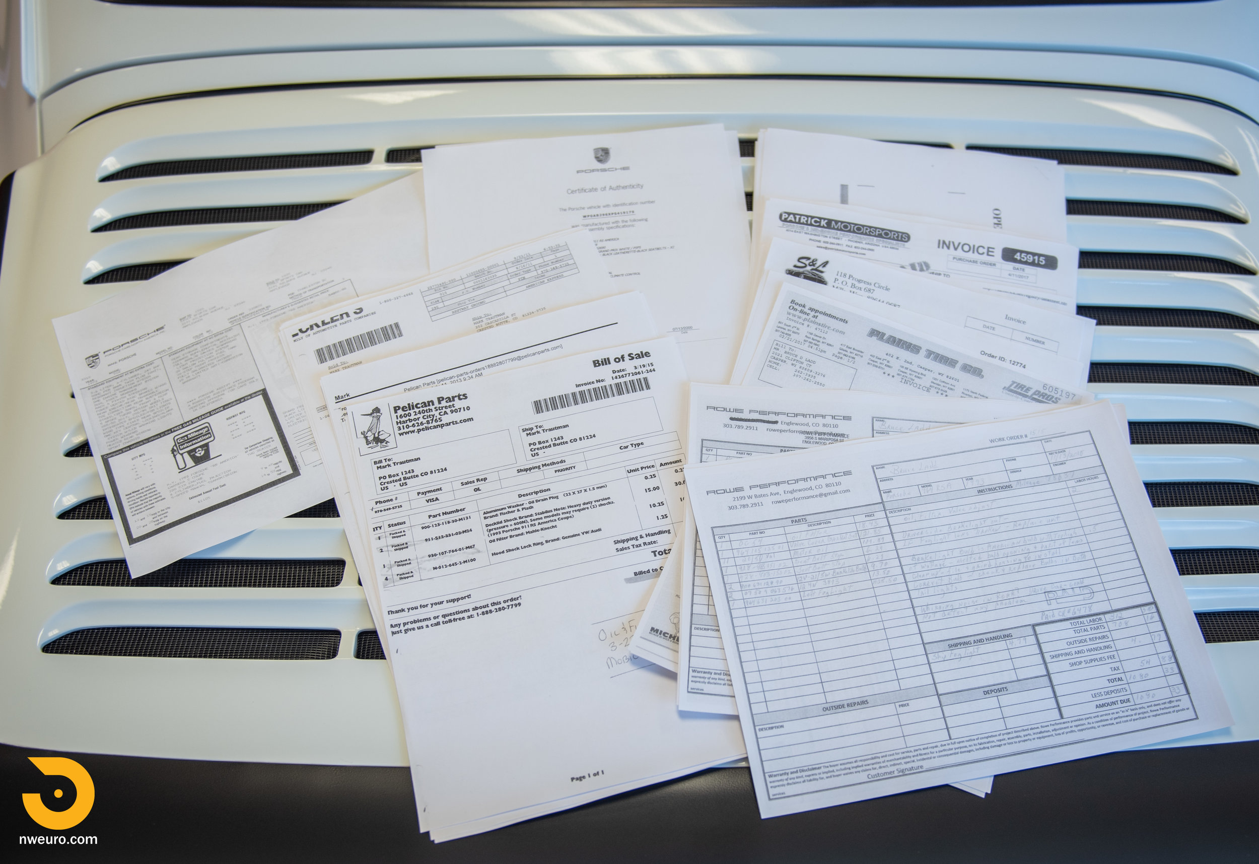 1993 Porsche RS America White Documents-1.jpg