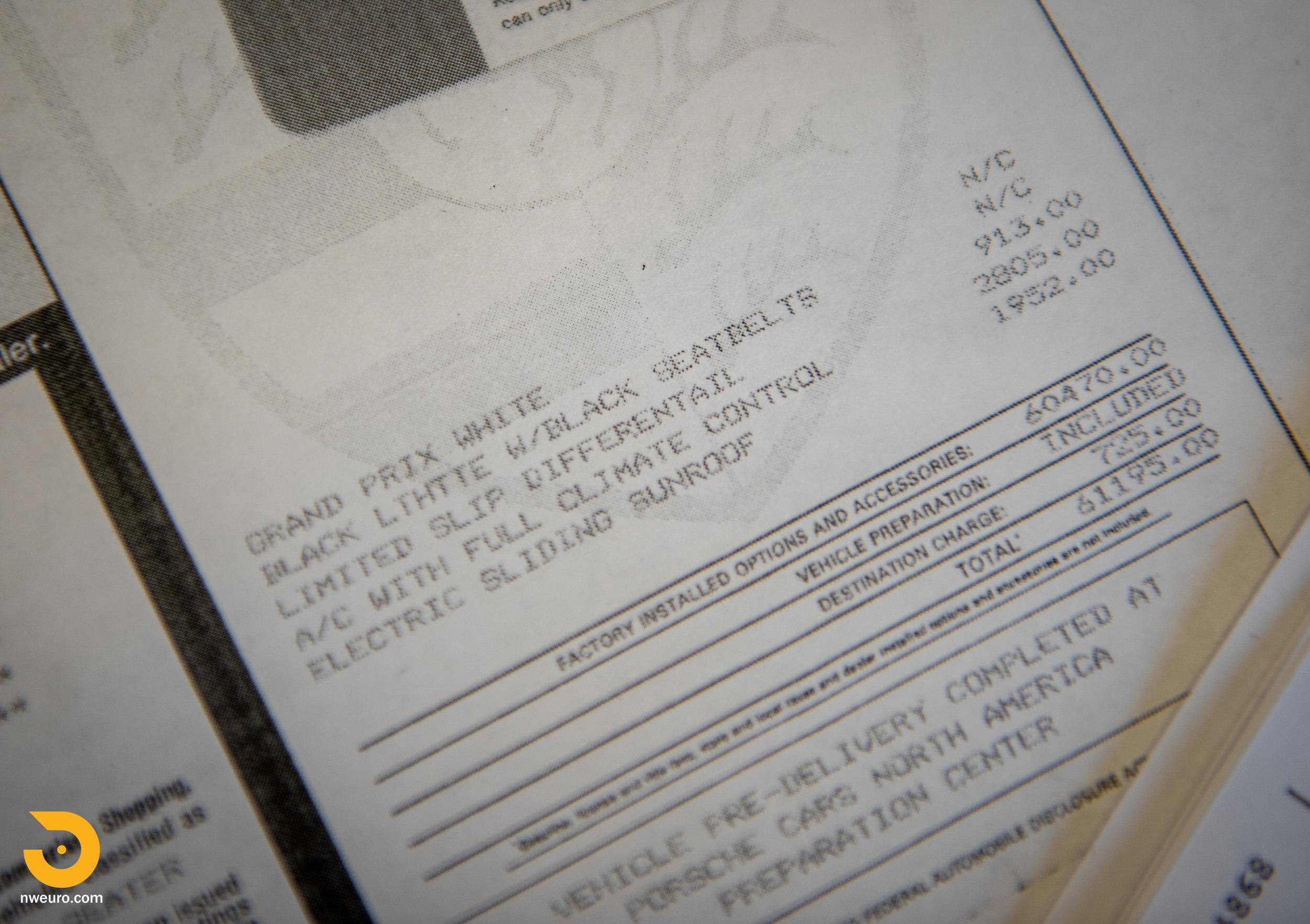 1993 Porsche RS America White Documents-3.jpg