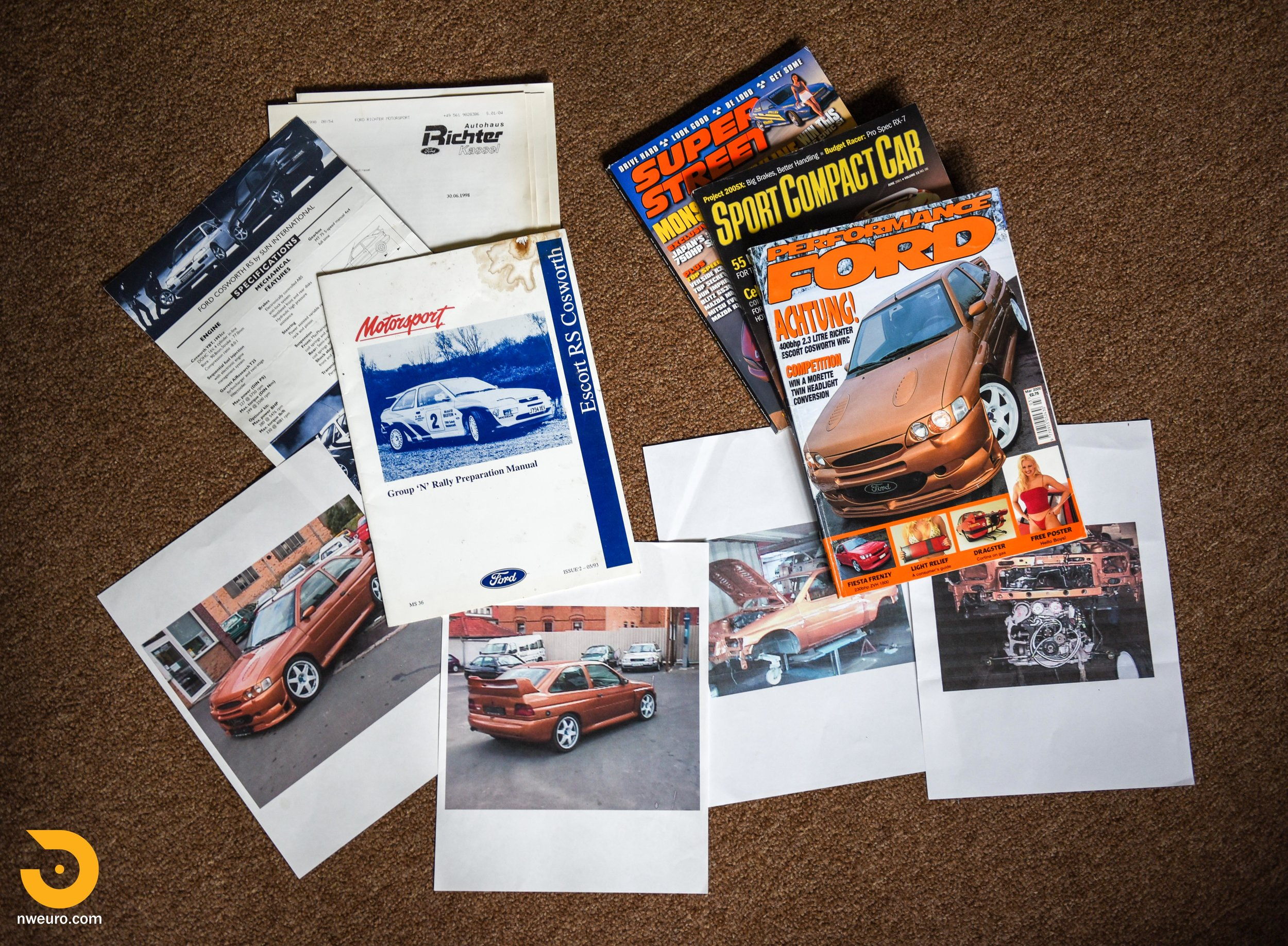 1995 Ford Escort Cosworth RS Gold Documents-2.jpg