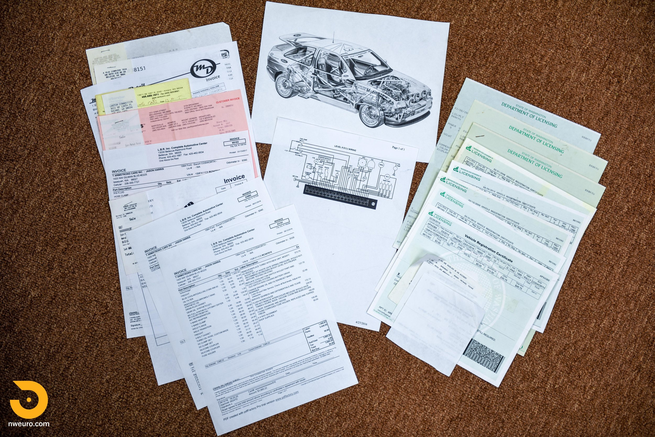 1995 Ford Escort Cosworth RS Gold Documents-1.jpg