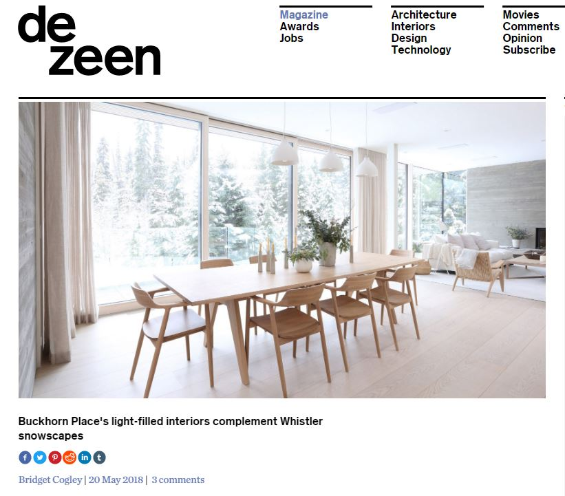Buckhorn Dezeen Feature