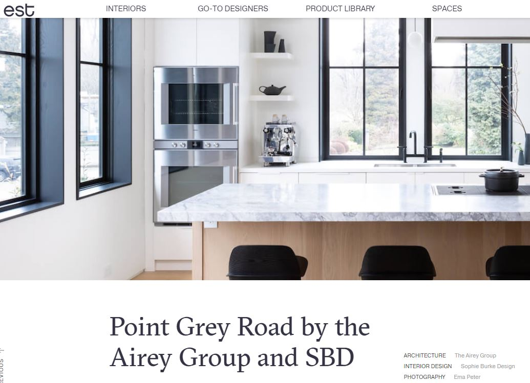 Est Living Feature - Point Grey Road