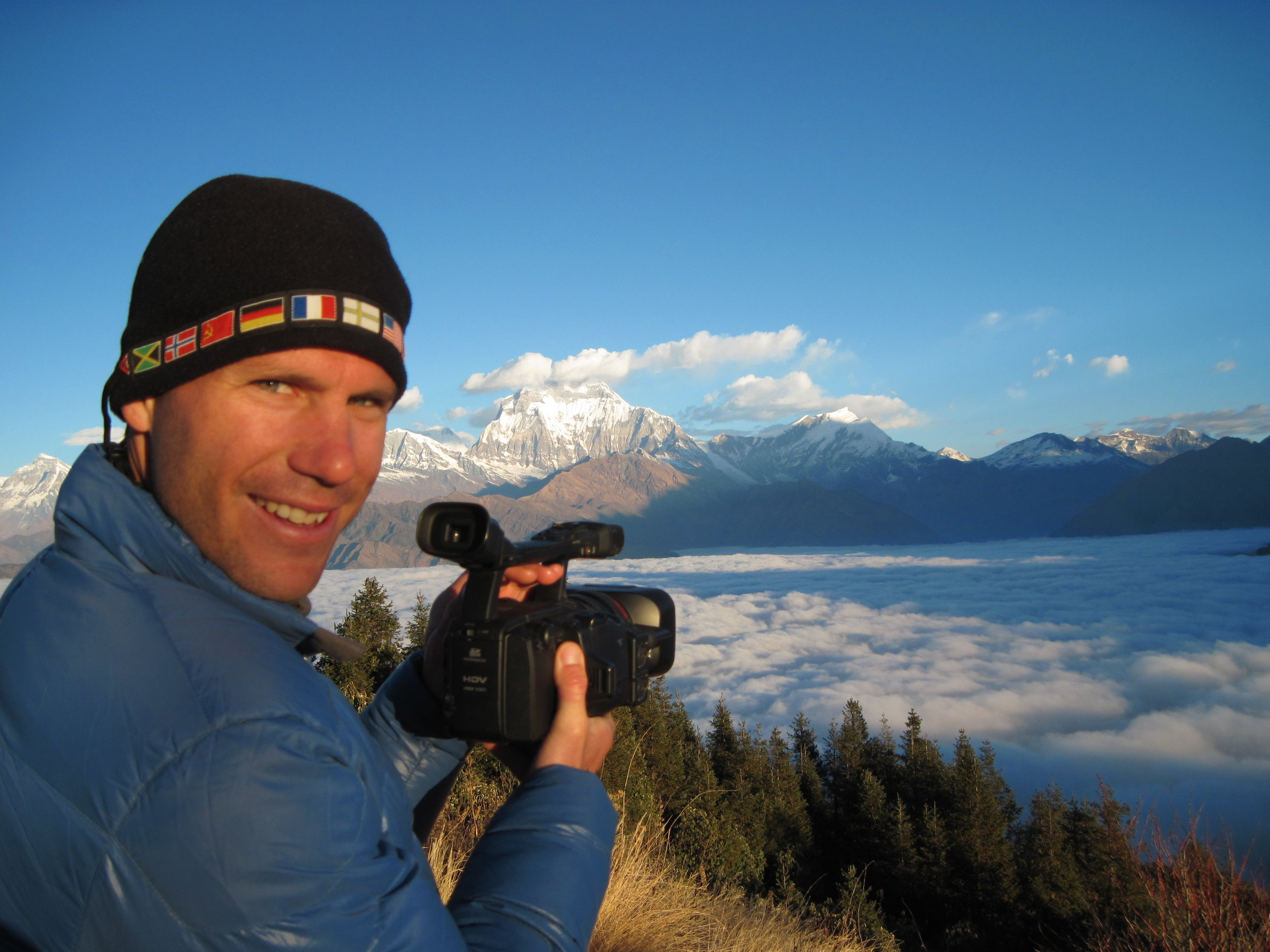 Filming in the  Himalayas of Nepal