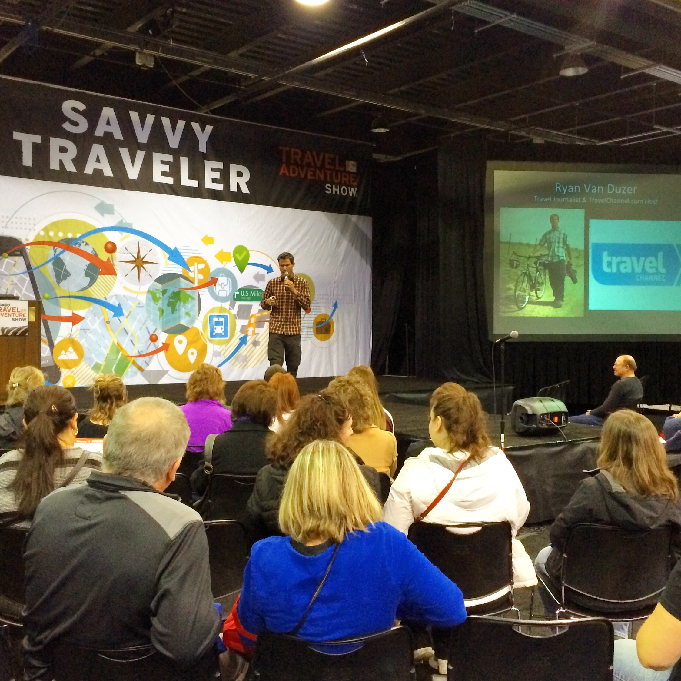 Speaking about my travel experiences on behalf of Travel Channel at the Travel and Adventure show in Washington D.C.
