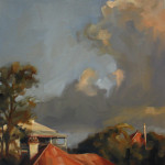 'Late Change' (study), oil on canvas, 40 x 40 cm, $1,500