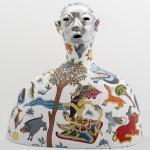 Lost and Found #1, 2013, cast aluminium, acrylic, 50 x 53 cm