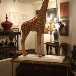 Installation view – 'Lost' by Hu Genhu foreground, antique furniture by Thomas & Alexander, Paddington, Brisbane.