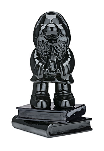 Michael Doolan, Between Wishes and Fears: (Black Bashful), ceramic, auto enamel, 28 x 20 x18 cm, $5,700
