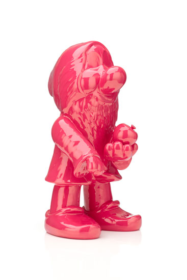 Michael Doolan, Between Wishes and Fears: (Red Bashful), ceramic, auto enamel, 21 x 21 x 42 cm, $5,700