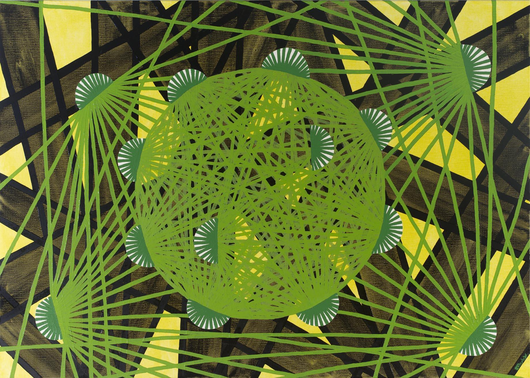 Ryan Presley, Denggiti, 2012, Oil on Linen, 100 x 70.5 cm