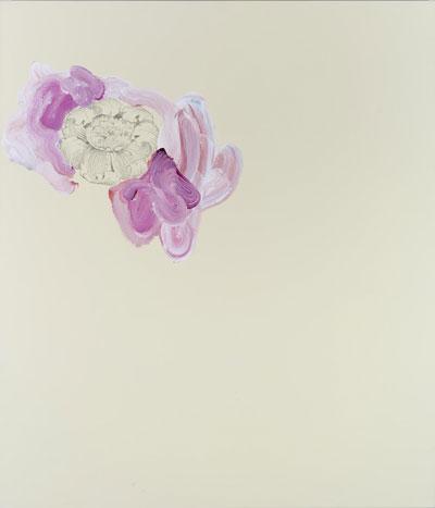 Daniel Mafe, Grandiflora XI, acrylic, transfer on canvas, 105 x 90 cm