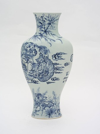 Shin Koyama, Sky Sailing, hand painted ceramic, 45 x 35 cm