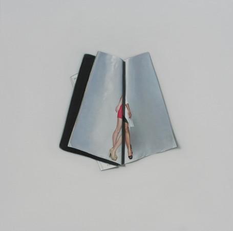 Chonggang Du, Magazine (2012), oil on canvas, 71 x 71 cm