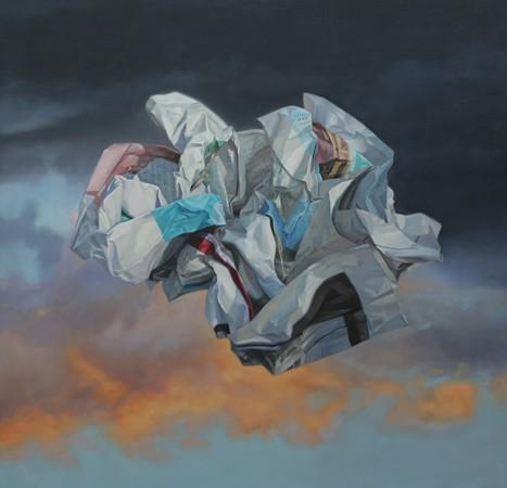 Chonggang Du, Unstable, oil on canvas, 137 x 137 cm