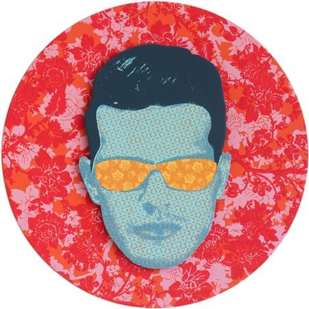 Samuel Tupou, Pan-o-vision V.3, silkscreen on high density PVC, 40 cm diameter