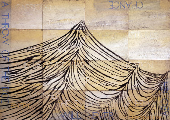Imants Tillers, Nature Speaks DJ (2011), acrylic, gouache on 16 canvas boards, 101 x 142 cm