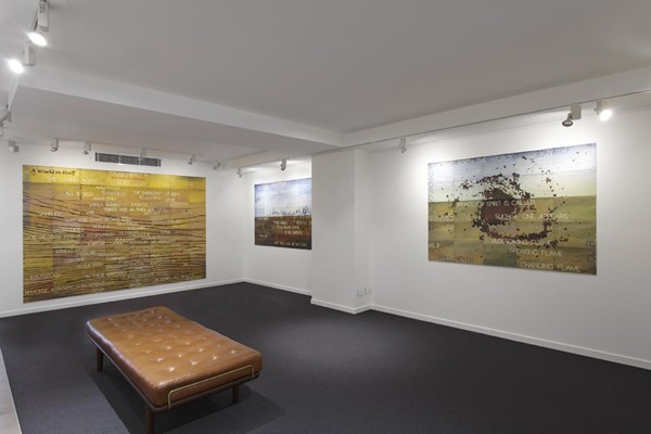 Imants Tillers Gallery install