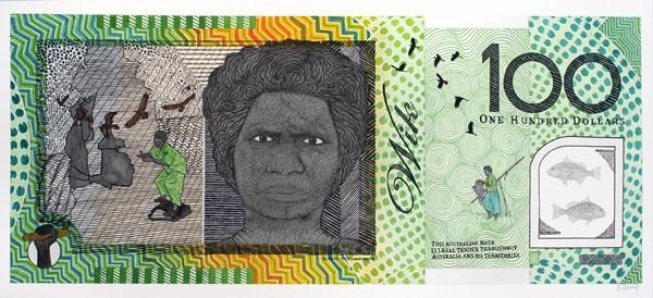 Ryan Presley, Prosperity – Gladys Tybingoompa – Commemorative (2011), water colour on paper, 75 x 100 cm