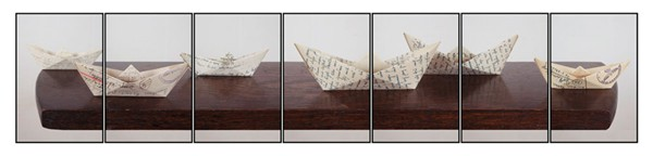 Joachim Froese, Tell him it is only a transition#4 (Rudolf) (2011), 7 inkjet prints, 30 x 140 cm (image size)