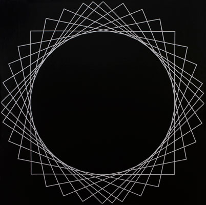 Magda Cebokli, Square #3 (2008), acrylic on canvas, 101.5 x 101.5cm