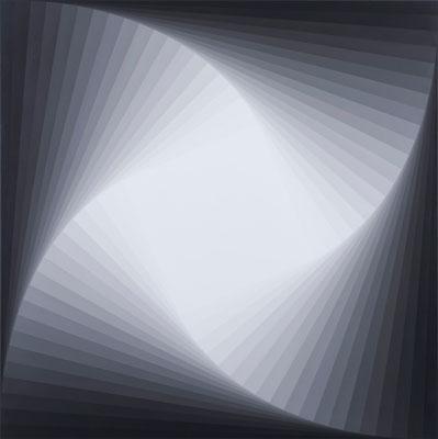 Magda Cebokli, Trace (Grey #3) (2008), acrylic on canvas, 101.5 x 101.5 cm