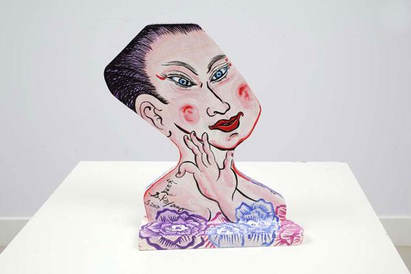 Shin Koyama, Hana-Chan, acrylic on board, 31 x 24cm, $650