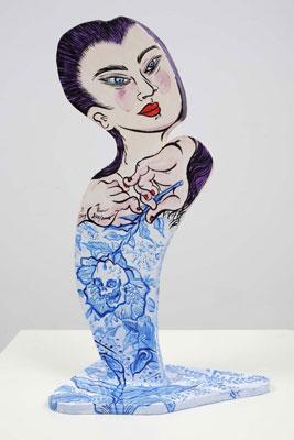 Shin Koyama, Weeds I, acrylic on board, 56 x 29cm, $650