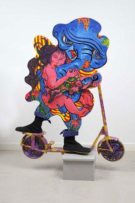 Shin Koyama, Run Away With Me, acrylic on board,125 x 100cm, $4,600