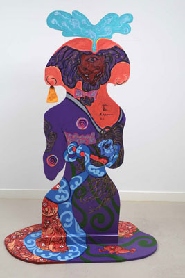 Shin Koyama, Samurai Prick (back view), acrylic on cut-out board, 170 x 120cm, $5,600