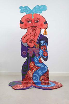 Shin Koyama, Samurai Prick (front view), acrylic on cut-out board, 170 x 120cm, $5,600