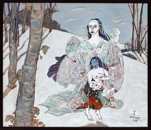Shin Koyama, Snow Mistress, oil on canvas, 95 x 80 cm, $6,500