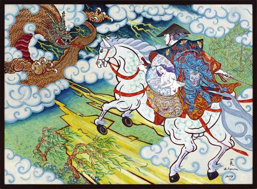 Shin Koyama, Dragon Slayer, oil on canvas, 88 x 155 cm, $7,500