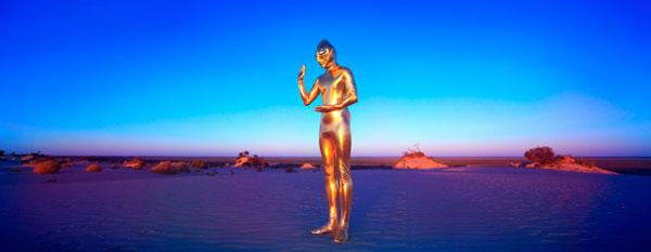 Ken Yonetani, Ultrabuddha – that is why I want to be saved #5 (2010), type C photograph, 35 x 90cm (image size)