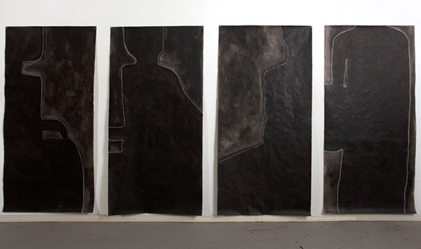 Judith Wright, Desire #1-4 (2010), acrylic on Japanese paper, 200 x 100cm unframed