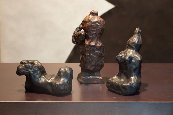 Judith Wright, Proposition #6 (2010), bronze sculpture, 10 x 12cm each (variable), set of 3