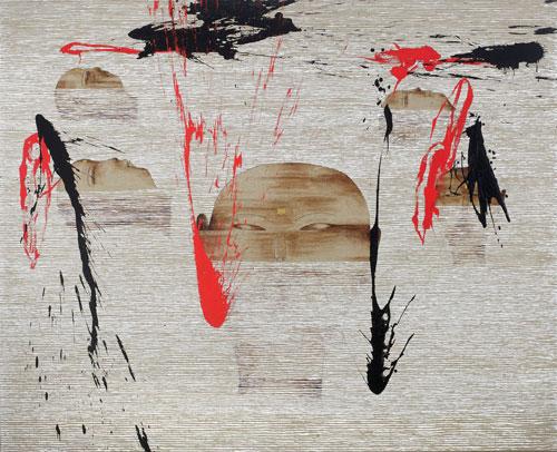 Dadang Christanto, The Water Flow Far Away (2009), acrylic on Belgium linen, 137 x 167cm