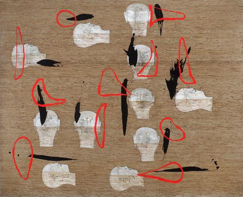 Dadang Christanto, I Hide In My Heart (2009), acrylic on Belgium linen, 137 x 167cm