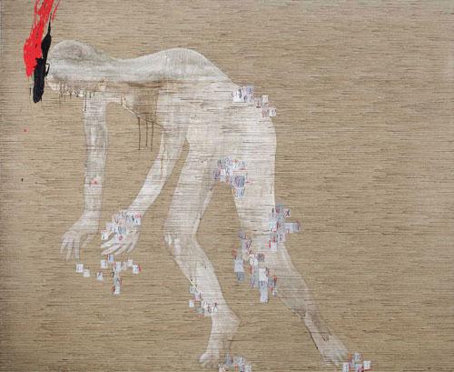 Dadang Christanto, Floating #3 (2009), acrylic on Belgium linen, 137 x 167cm