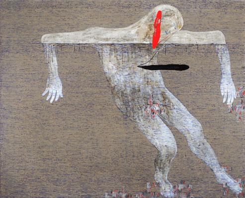 Dadang Christanto, Floating #2 (2009), acrylic on Belgium linen, 137 x 167cm