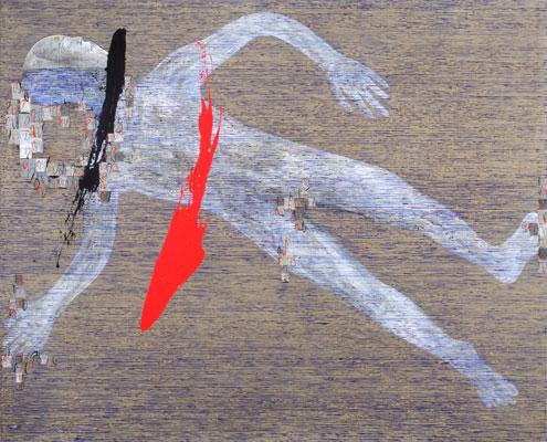 Dadang Christanto, Floating #1 (2009), acrylic on Belgium linen, 137 x 167cm