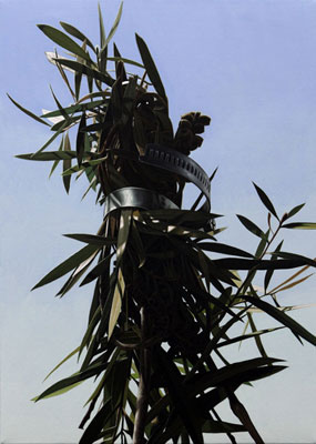 Juan Ford, Busted Bouquet (2009), oil on linen, 51 x 36cm
